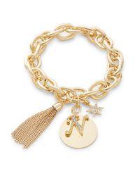 R.j. Graziano   Metallic N Initial Chain-link Charm Bracelet   Lyst