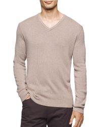 Calvin Klein | Multicolor Cotton V-neck Sweater for Men | Lyst