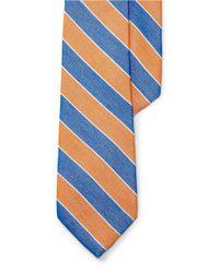 Lauren by Ralph Lauren | Blue Striped Cotton-silk Tie for Men | Lyst