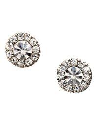 Lauren by Ralph Lauren | Metallic Round Pave Stud Earrings | Lyst