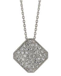 Morris & David | Metallic Diamond Pendant In 14 Kt. White Gold | Lyst