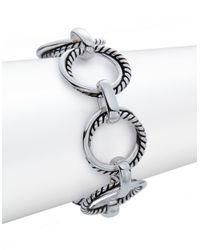 Lauren by Ralph Lauren | Metallic Ring Chain Link Bracelet | Lyst