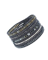 Chan Luu | Multicolor 32' Pietersite Mix With Crystals Wrap Bracelet | Lyst