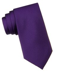 Calvin Klein | Purple Slim Fit King Cord Ii Silk Tie for Men | Lyst