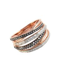 Effy | Multicolor Brown Diamond, Diamond And 14k Rose Gold Ring, 0.56 Tcw | Lyst