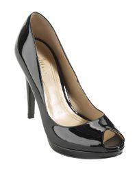 Cole Haan | Black Chelsea Patent Leather Open-toe Pumps | Lyst