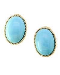Effy | Blue Turquesa Turquoise And 14k Yellow Gold Earrings | Lyst