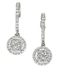 Effy | Metallic Bouquet Diamond And 14k White Gold Drop Earrings, 0.59tcw | Lyst