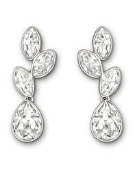 Swarovski | Metallic Tranquility Silvertone & Crystal Drop Earrings | Lyst