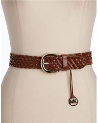 MICHAEL Michael Kors | Brown Braided Belt | Lyst