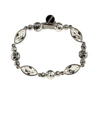 Givenchy - Metallic Crystallized Flex Bracelet - Lyst