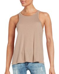 Free People | Natural Long Beach Tank | Lyst