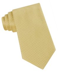 Calvin Klein | Yellow Classic Fit Micro Dot Textured Silk Tie for Men | Lyst