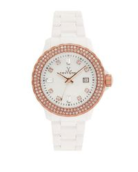 Toy Watch | White Ladies Two Tone And Crystal Watch | Lyst