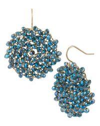Kenneth Cole   Blue Gemstone Pendant Drop Earrings   Lyst