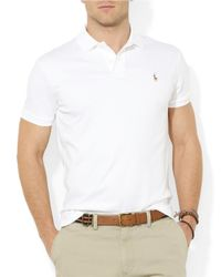 Polo Ralph Lauren | White Pima Soft-Touch Polo Shirt for Men | Lyst