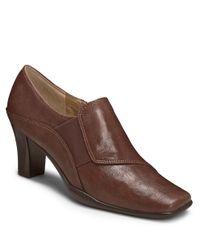 Aerosoles | Brown Cinglefile Faux Leather Booties | Lyst