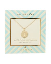 kate spade new york - Metallic One In A Million Letter I Pendant Necklace - Lyst