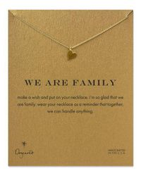 Dogeared - Metallic We Are Family Open Heart Necklace - Lyst