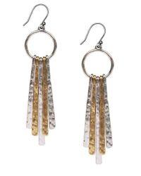 Lucky Brand | Metallic Two-tone Paddle Drop Earrings | Lyst