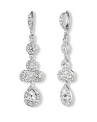 Givenchy | Metallic Pear Crystal Linear Drop Earrings | Lyst