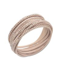 Swarovski - Pink Slake Nude Crystallized Bracelet - Lyst