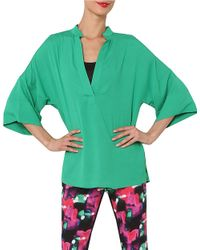 Isaac Mizrahi New York - Green Kimono-sleeve Top - Lyst