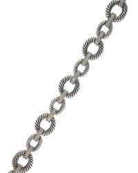 Effy - Metallic Balissima Sterling Silver, Diamond And 18K Yellow Gold Oval Bracelet - Lyst