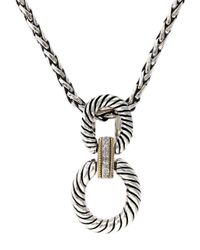 Effy - Metallic Balissima 18k Yellow Gold And Sterling Silver Pendant Necklace With Diamond Accents - Lyst
