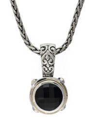 Effy | Metallic Balissima 18k Yellow Gold And Sterling Silver Onyx Pendant | Lyst