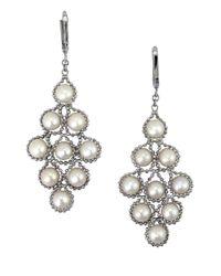 Effy - Metallic White Pearl And Sterling Silver Chandelier Drop Earrings - Lyst