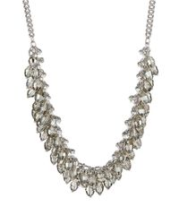 ABS By Allen Schwartz | Metallic Beaded Collar Necklace | Lyst