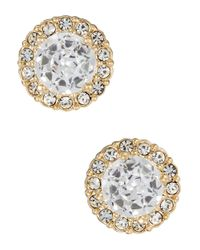 Nadri | Metallic Pave Stud Earrings | Lyst