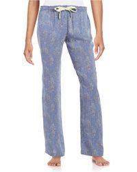 Calvin Klein   Blue Patterned Pajama Pants   Lyst