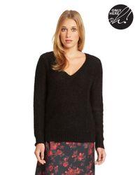424 Fifth - Black V Neck Sweater - Lyst