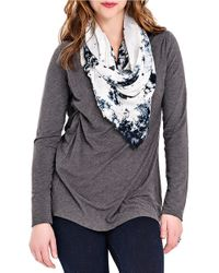 Lyssé | Gray V Neck Top With Stretch Lining | Lyst