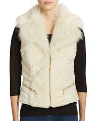 Guess | Multicolor Gabby Faux Fur Vest | Lyst