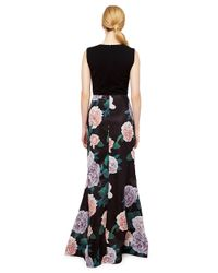 Erin Fetherston - Black Constance Floral Print Gown - Lyst