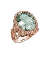 Effy | 14k Rose Gold Green Amethyst And Diamond Ring | Lyst