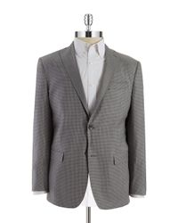 Michael Kors - Gray Two Button Checkered Blazer for Men - Lyst