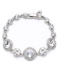Givenchy | Metallic Cubic Zirconia And Crystal Bracelet | Lyst