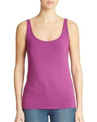 Lord & Taylor | Blue Plus Iconic Fit Slimming Scoopneck Tank | Lyst