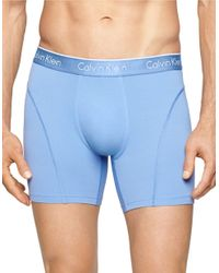 Calvin Klein   Blue Solid Nylon Blend Boxer Briefs for Men   Lyst