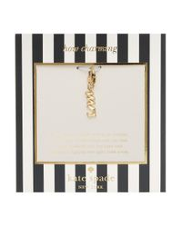 kate spade new york | Metallic How Charming Mrs Charm | Lyst