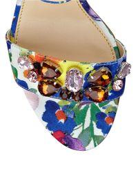 Ivanka Trump - Multicolor Gessa Embellished Open-toe Sandals - Lyst