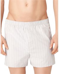 Calvin Klein | White Three-pack Woven Boxer Shorts Set for Men | Lyst