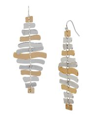 Robert Lee Morris | Metallic Prisma Two-tone Stacked Bar Earrings | Lyst