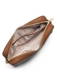 MICHAEL Michael Kors | Brown Jet Set Travel Large Saffiano Crossbody Bag | Lyst