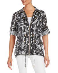 Calvin Klein | Black Linen Anorak Jacket | Lyst