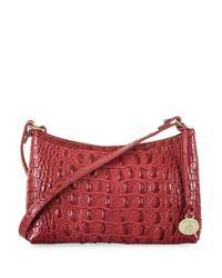 Brahmin | Red Anytime Leather Mini Shoulder Bag | Lyst